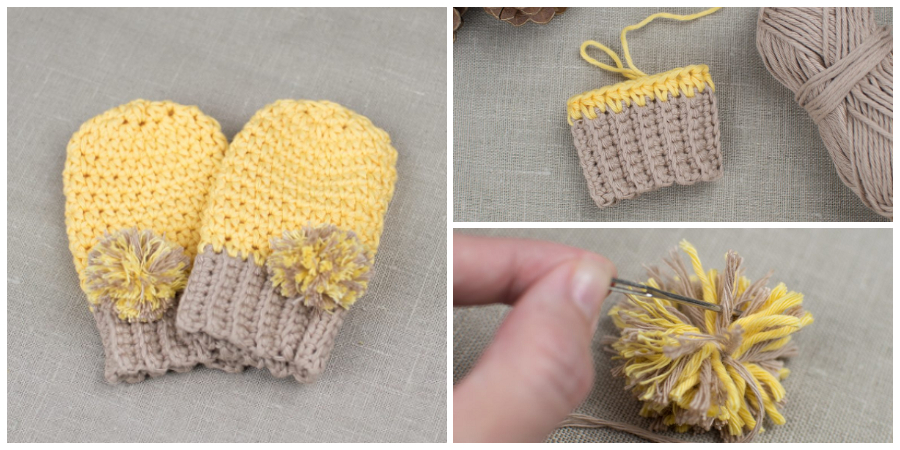 This is an easy and fun step by step tutorial that will show you how to crochet baby mittens.