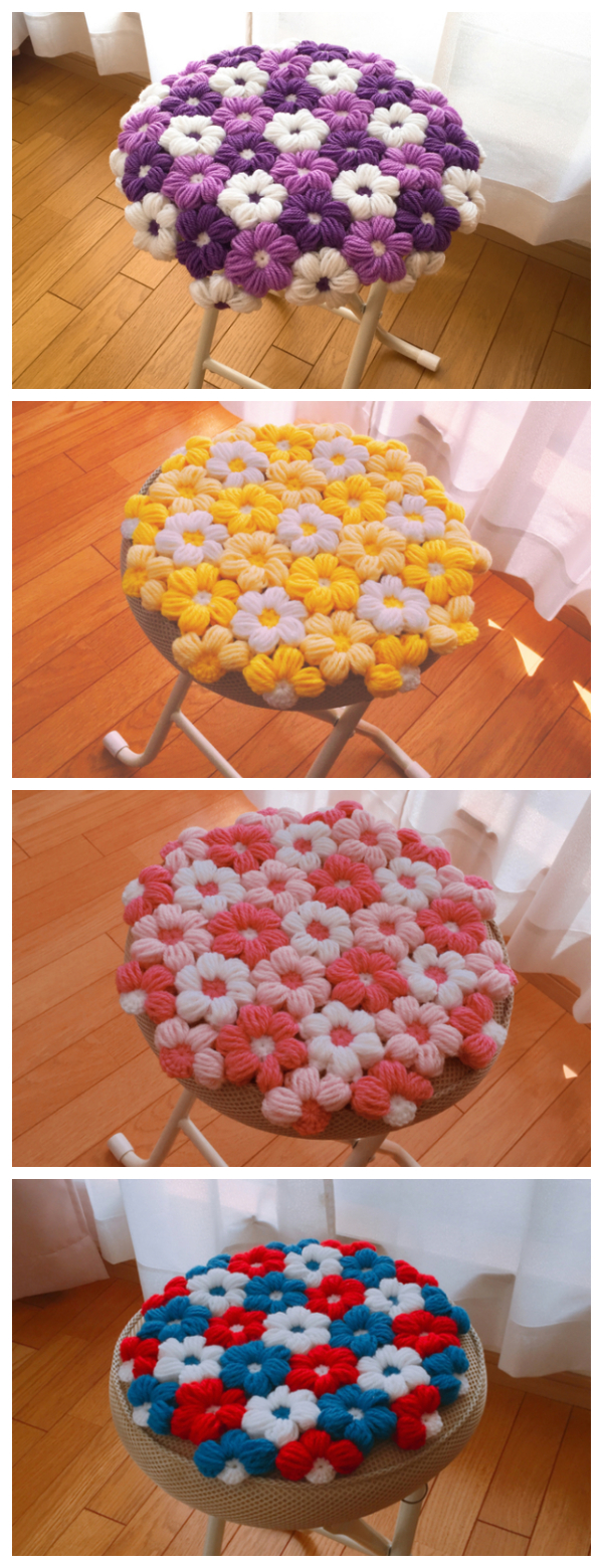 This is one of the best Flower Crochet Chair patterns that I could find!
