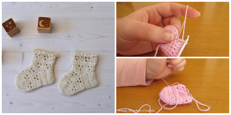 How To Crochet Easy Lace Baby Socks Crochet Kingdom