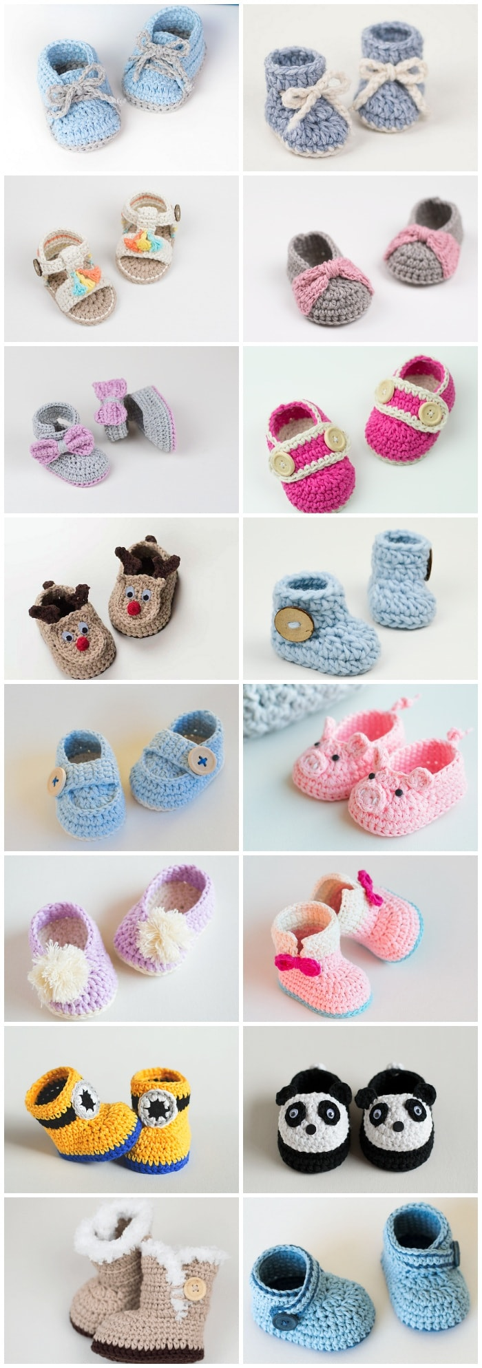 Crochet baby booties are among the most popular handcrafted projects. They are cute and beautiful. Well there are 16 Free booties to choose...