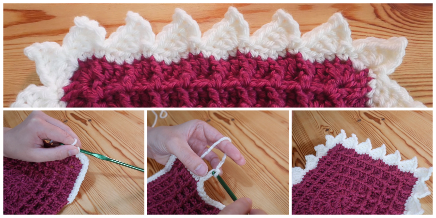 This lovely Crochet Border - Shark Fins is a great way to finish off any project and I hope you all like it!