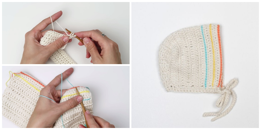 This is a super easy and fast step by step tutorial that will teach you how to crochet baby bonnet.