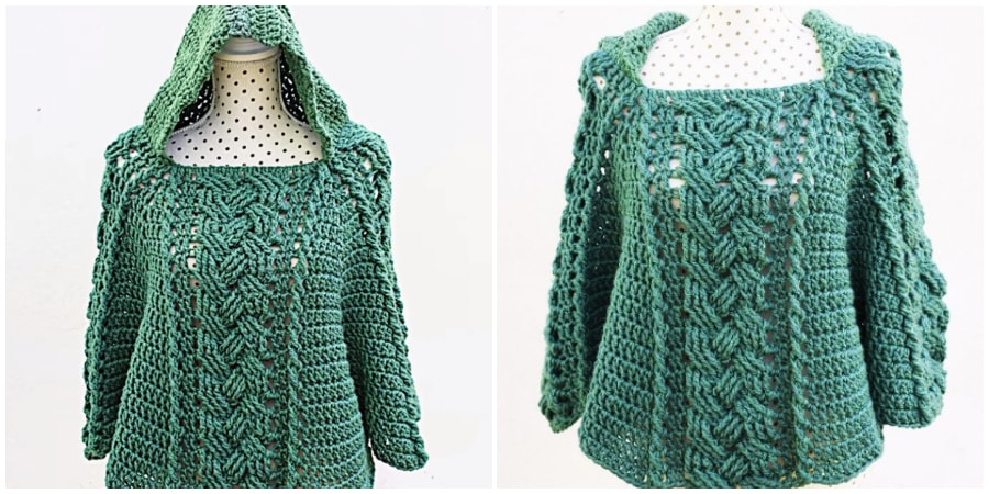 This beautiful Crochet Poncho will be favourite outfit for you. Easy to put it on will give nice warm against the evening chill. Poncho size is 44 or XL, but you can easily adjust it for smaller or bigger size. Enjoy, guys !