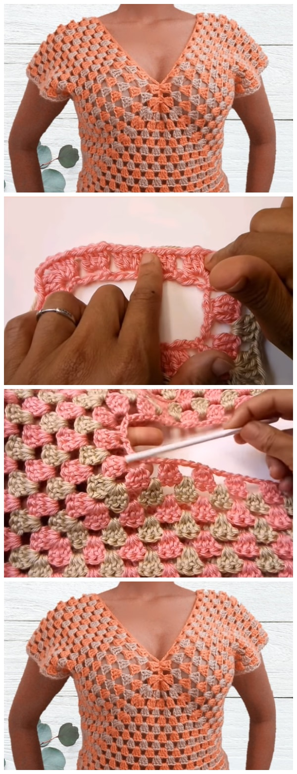 In this tutorial will teach you how to make a Crochet Sweater Top. If you can make a granny square, then you can do this. Even if you can't. I will take you step by step in creating this crochet sweater.