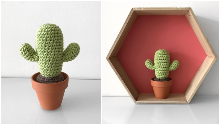 crochet cactus pattern Archives ⋆ Crochet Kingdom (8 free crochet ... | 400x700