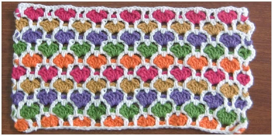 Even as a prove of my words, this can be another beautiful mosaic Moroccan stitch creates a very solid fabric for Crochet Moroccan Blanket. This amazing colorful mosaic Moroccan stitch provides a fabulous look to any project you choose. Enjoy, guys !