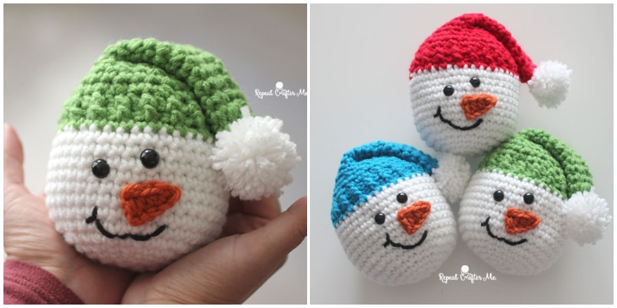 Crochet Snowman will appeal to both adults and children and will take pride of place under the Christmas tree. Christmas crochet is an exciting activity, It's time to create holiday home decor and unique gifts. Enjoy. guys !