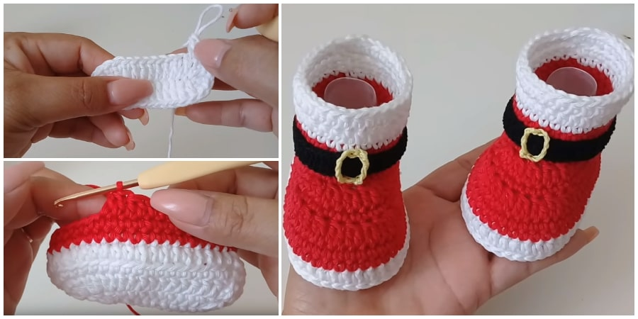 This step by step tutorial, shows how to make this traditional Crochet Baby Santa Boots. Who doesn't like to dress like a Santa Claus ? This is a dream for every child. Enjoy !
