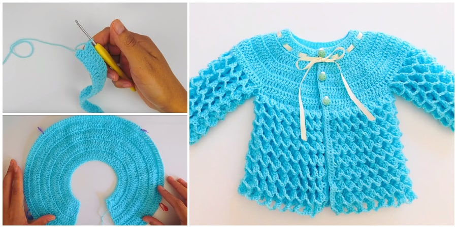 This Beautiful Crochet Baby Sweaters is just too cute. Your little one will love wearing such a comfortable and classic design. Plus, you'll love having the Crochet Baby Sweater option to keep your little one's body protected from the elements. Enjoy !