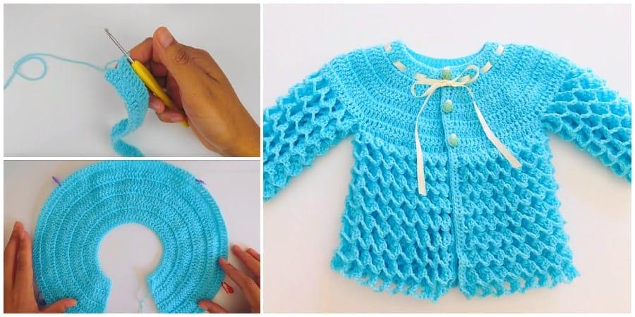 Crochet Baby Sweater Learn To Crochet Crochet Kingdom