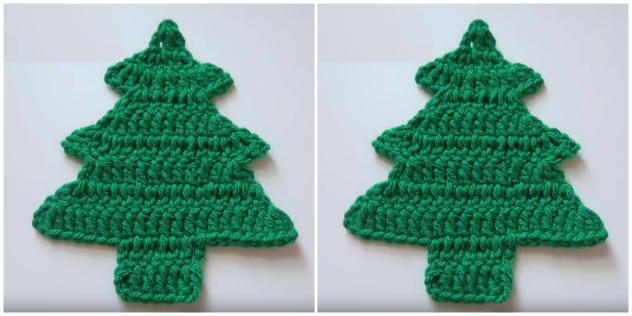 This Crochet Christmas Tree is very easy to make. It will take a couple of houts to make a beautiful decoration. The height of Christmas Tree is about 9-12 cm, depending on yarn weight and hook size. Enjoy !