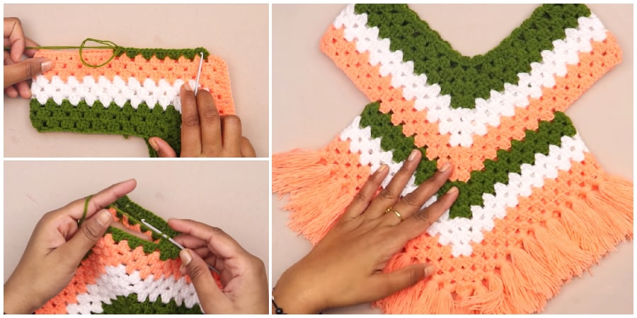 I am sharing a video on how to make a beautiful Easy crochet poncho dress for 6 - 12 months baby and 2-3 years baby. This poncho can be worn over a jacket or shirt. Enjoy !