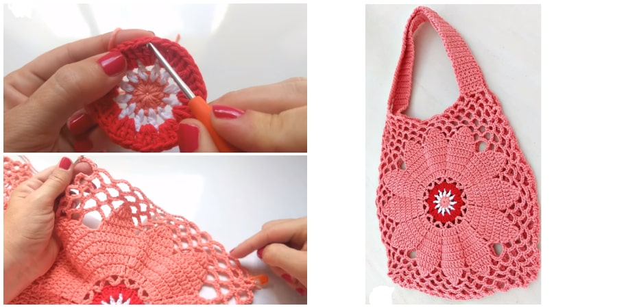 This is Crochet Bag Simple And Very Easy and it's one of the most beautiful crochet bag I have ever seen before. Bag of the year ! Project of the Year ! Visit us and watch free video tutorial. Enjoy !