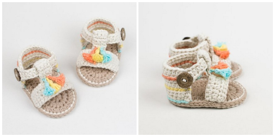 This is a super easy and fast step by step tutorial that will teach you how to crochet baby sandals.