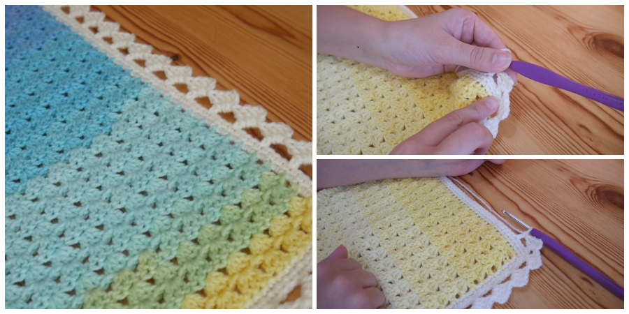 This lovely Crochet Border Edging is a great way to finish off any project and I hope you all like it!