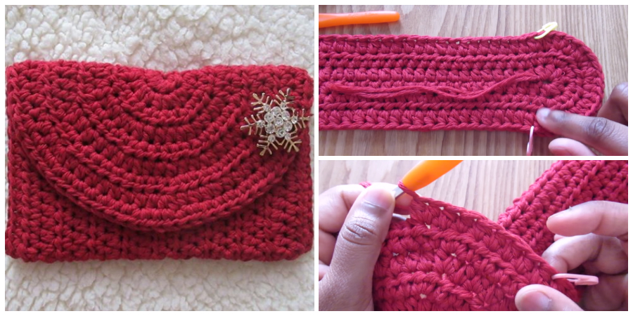 This super Crochet Simple Clutch is perfect for beginners!
