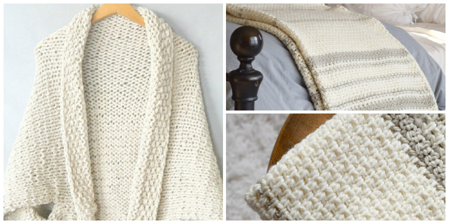 You can see a FULL TUTORIAL on how to make this simple stitch from Fiber Flux HERE!