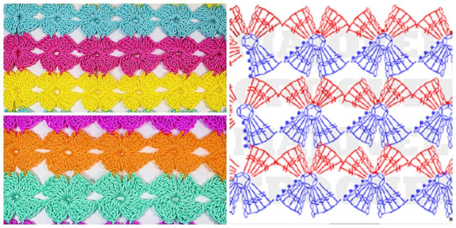 I show you how to make this beautiful Crochet Flower Stitch. It's very easy to do. You can do it only in one color.