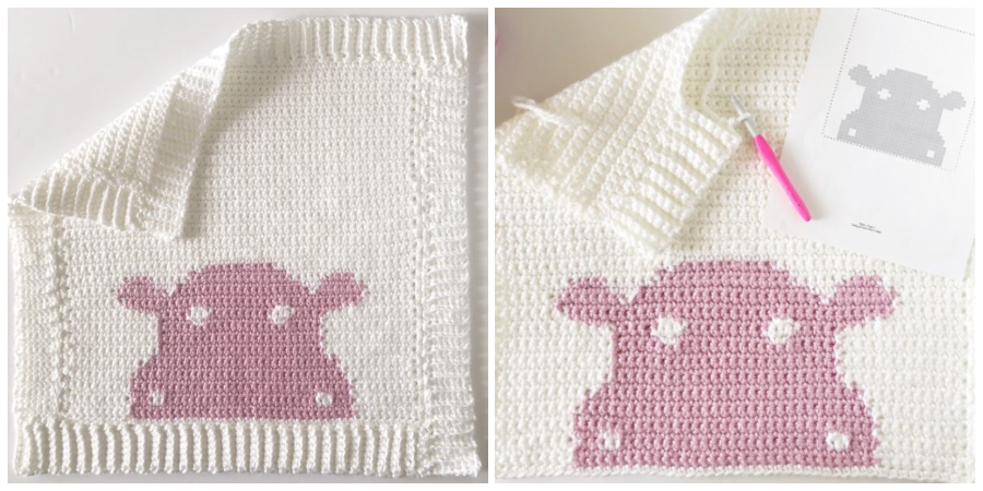 This is a video that accompanies the Hippo Crochet Blanket. I had this thought that these little blankets would be so fun to make to accompany a children's book.