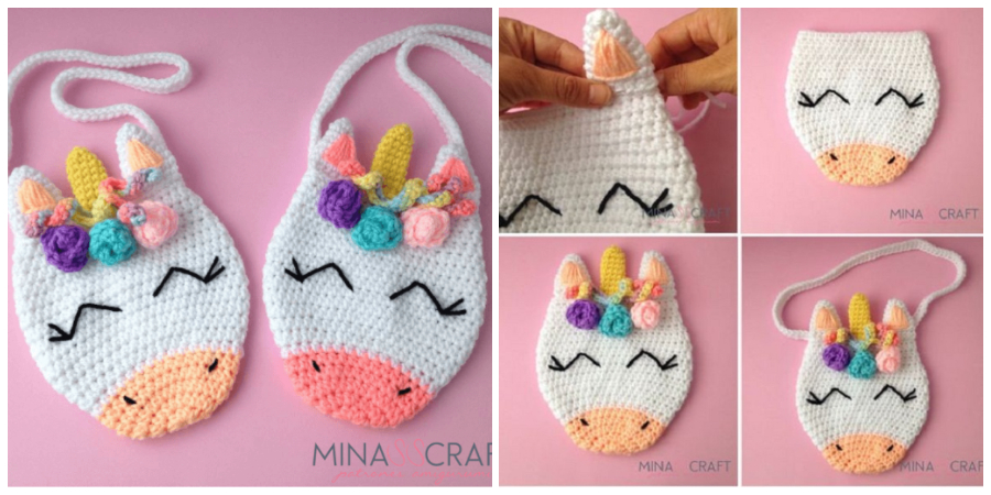 This Unicorn Purse Bag Crochet is a very cute and colorful purse bag that little girls are sure to enjoy.