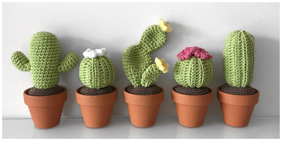 How to Crochet A🌵 Cactus: Prickly Pear - YouTube | 450x900