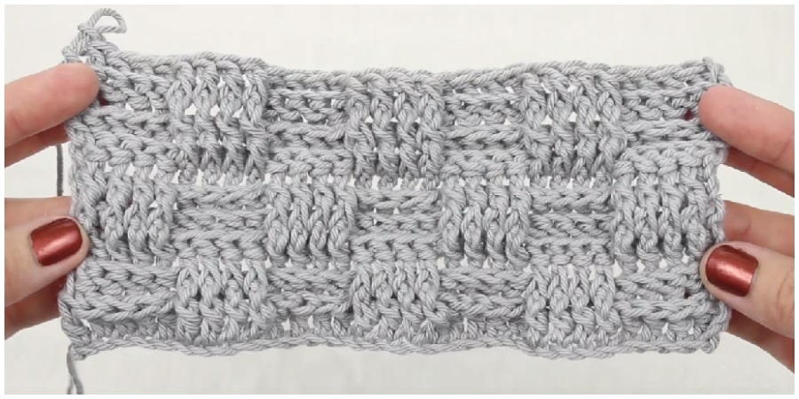 Learn how to crochet the Basketweave Crochet Stitch in this step-by-step video tutorial. I was intimidated by the basketweave stitch for so long–I even tried and failed on multiple attempts. Then during a quick 10pm phone call, my sister quickly explained it and everything clicked into place in my mind, hook and hands. Enjoy !