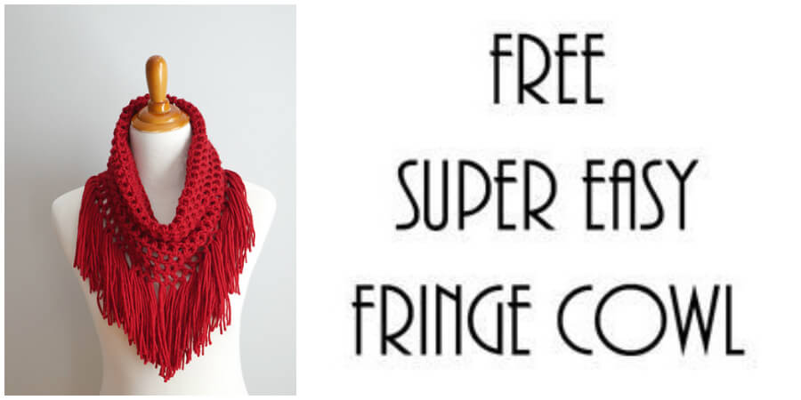 The Festive Cranberry Crochet Fringe Cowl is a fun cowl to both make and wear…I can't get enough fringe and this one has lots of it. This cowl is seamless, worked in the round and whipped up using just one ball of yarn too. Enjoy !