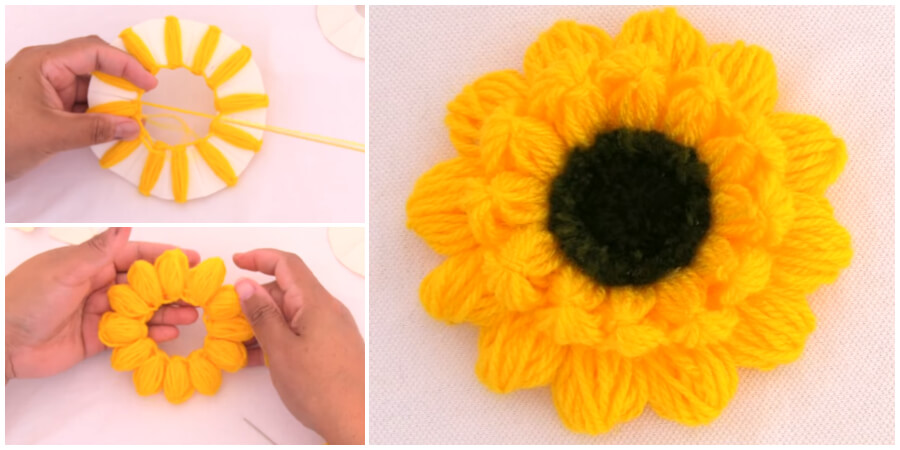This is a one of the best Sunflower Embroidery Simple trick for everyone. It's one of the best trick. Since flowers and leaves are probably the most common motif in hand embroidery, it's good to have a whole arsenal of stitching techniques on hand for embroidering them.