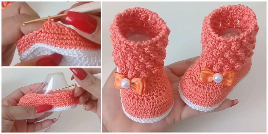 Very Easy Crochet Baby Booties Learn To Crochet Crochet Kingdom