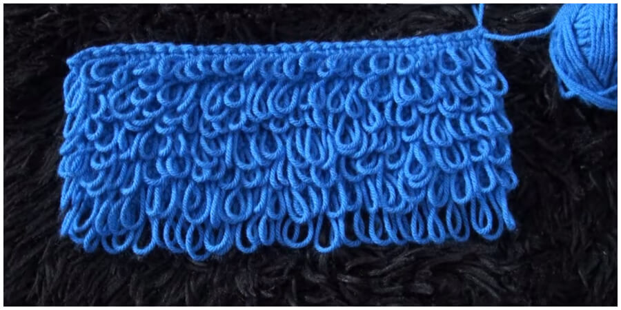 Getting the Crochet loop stitch loops all the same length takes some practice, but when you get the hang of it, the loop stitch adds a lot of interest to garments.