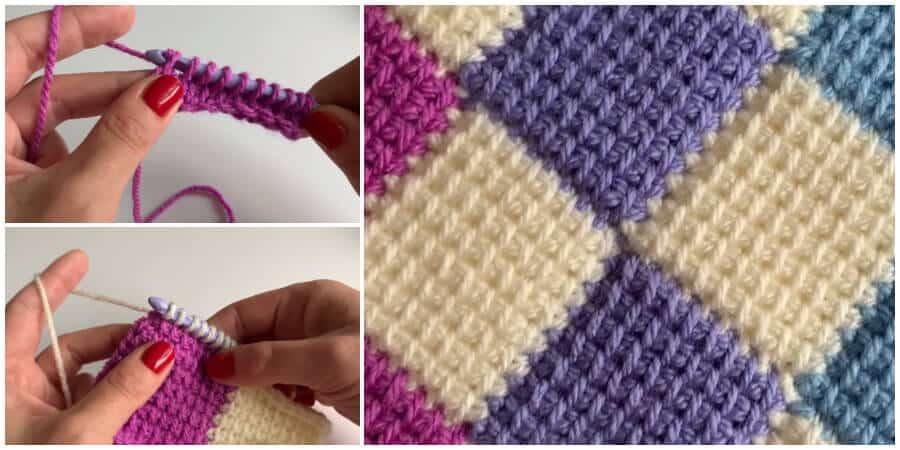 Tunisian Entrelac Crochet Stitch Pattern Crochet Kingdom