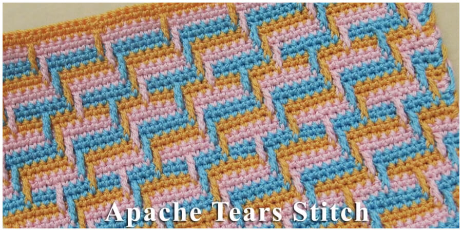 Crochet apache tears stitch is probably the best technique for those who love making colorful shawls, blankets, mittens and etc. We wish you a very best of luck and joy with learning this extraordinary stitch.