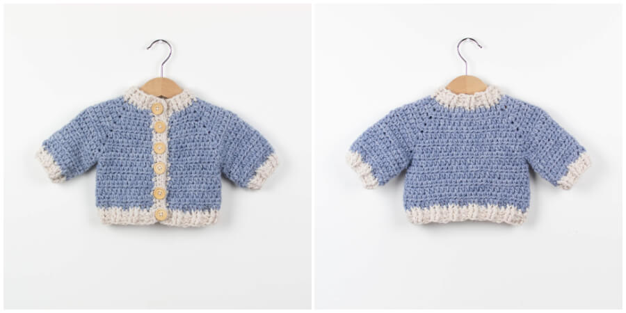 Crochet Baby Cardigan Learn To Crochet Crochet Kingdom