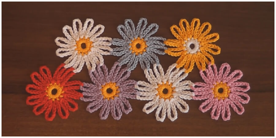Easy Crochet Flower Tutorials are so pretty! They may look simple but they can jazz up any plain old beanie, headband and bags and they are quick to make.