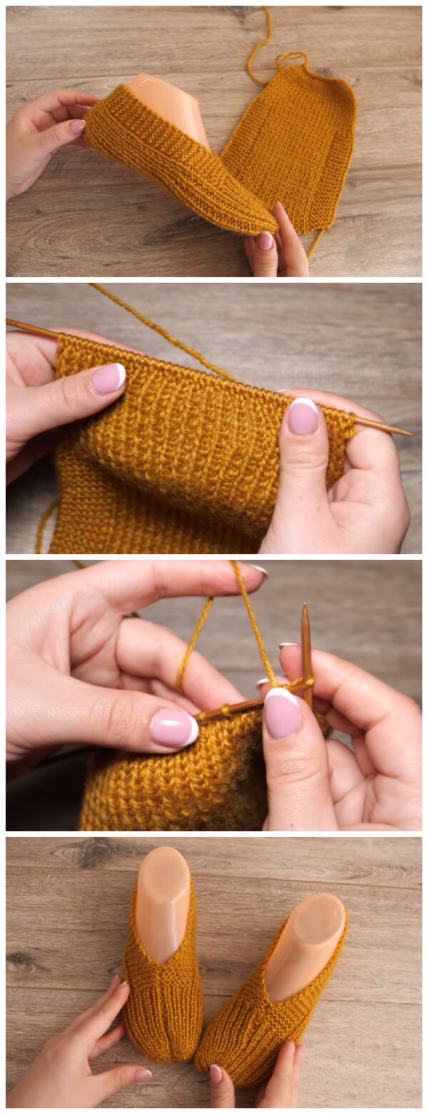 This Easy Slippers Pattern Tutorial gives warmth and has a fair amount of elasticity. Also it is best to make your slippers on the smaller side rather than larger.