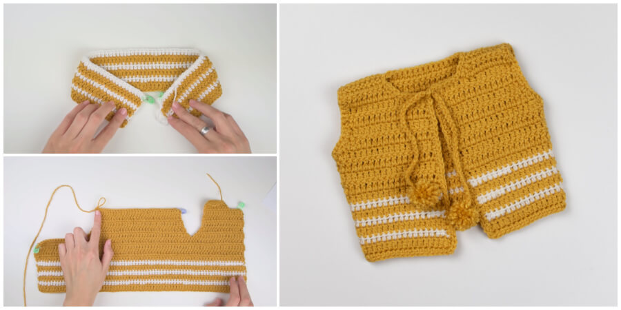 This is a fun and easy tutorial for Pom Pom Crochet baby cardigan. You can also find a free written pattern here. Enjoy !