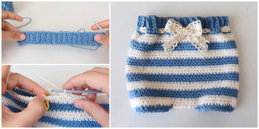This is a super easy and fast step by step tutorial that will teach you how to Crochet Baby Diaper Cover. Spring is here and It's one of the best project for this season. Enjoy !