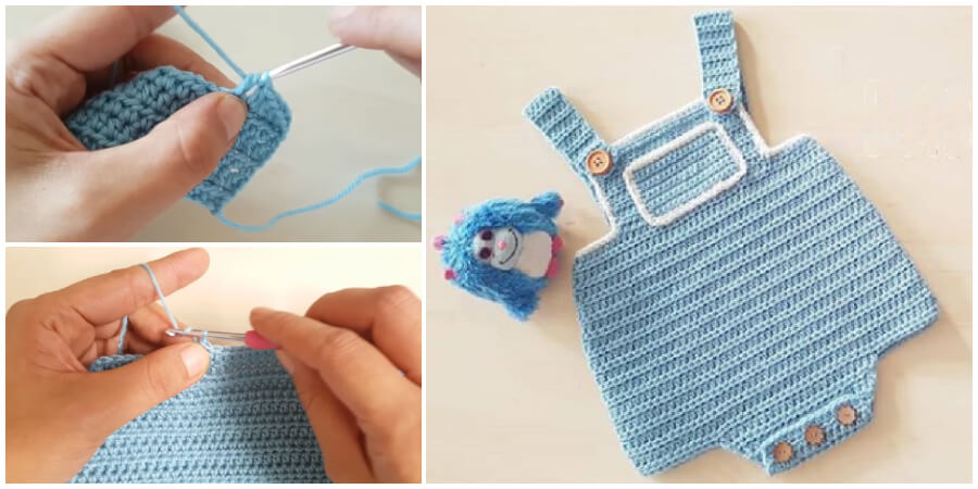 This is a super easy left-right handed fast step by step tutorial that will teach you how to Crochet Very Easy Crochet Baby Romper. Enjoy !