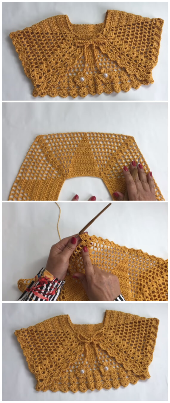 Today we have instructions and video tutorial how to crochet bolero jacket in 1 hour. Enjoy !