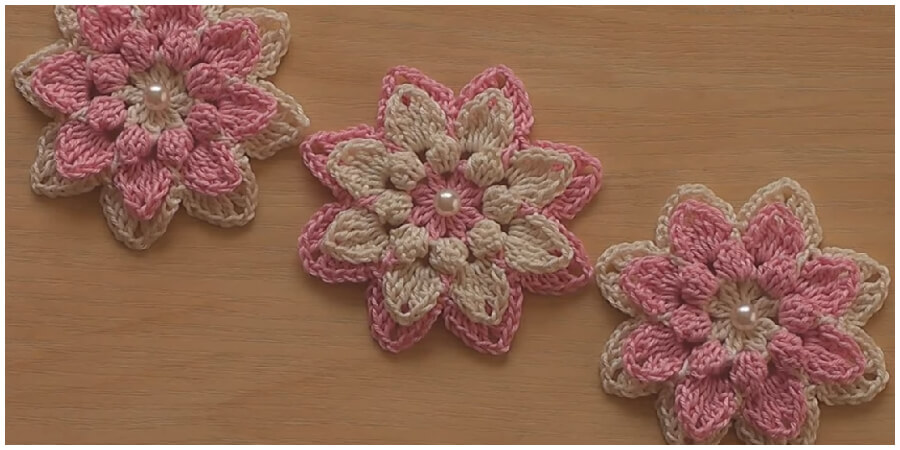 This is a super easy and fast step by step tutorial that will teach you how to Crochet Very Easy Crochet Flower Tutorial. Spring is here and flowers are one of the best projects for this season. Enjoy !