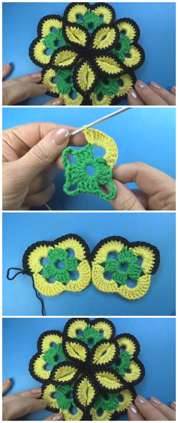 Large Crochet Flower is becoming more and more popular around the world. Crochet lovers are making flowers and then decorating clothes