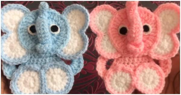 Amigurumi Elephant Bookmark Crochet Pattern | Supergurumi | 315x600