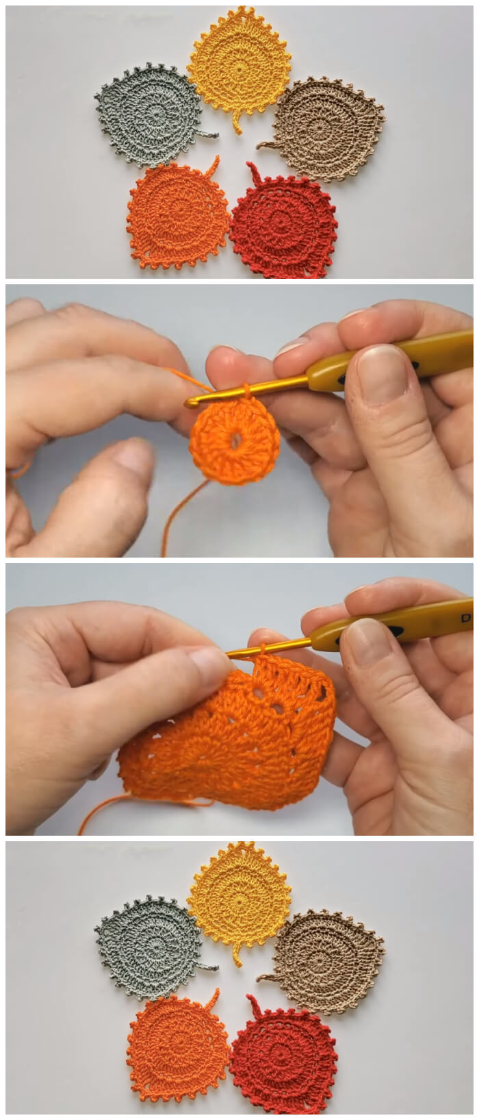 Crochet Leaf Coaster project is right the perfect time for Autumn home purpose. This tutorial is a best, if you'd like to decorate your home for this season with these bright and cheerful Leaf Coasters.