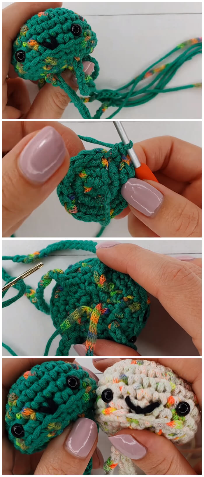 Crochet along with me to make yourself your very own Amigurumi Jellyfish Keychain - super cute and SUPER fast to make!