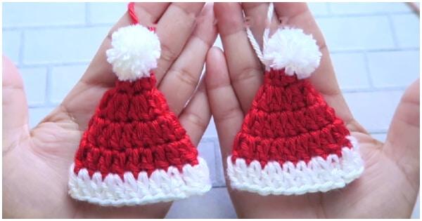 Free mini Santa hat pattern | Son's Popkes | 315x600