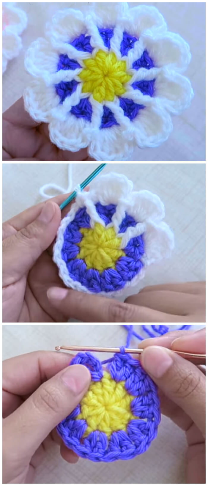 Crochet flower tutorials are so pretty to make. They may look simple but they can jazz up any plain old beanie, headband and bags and they are quick to make.