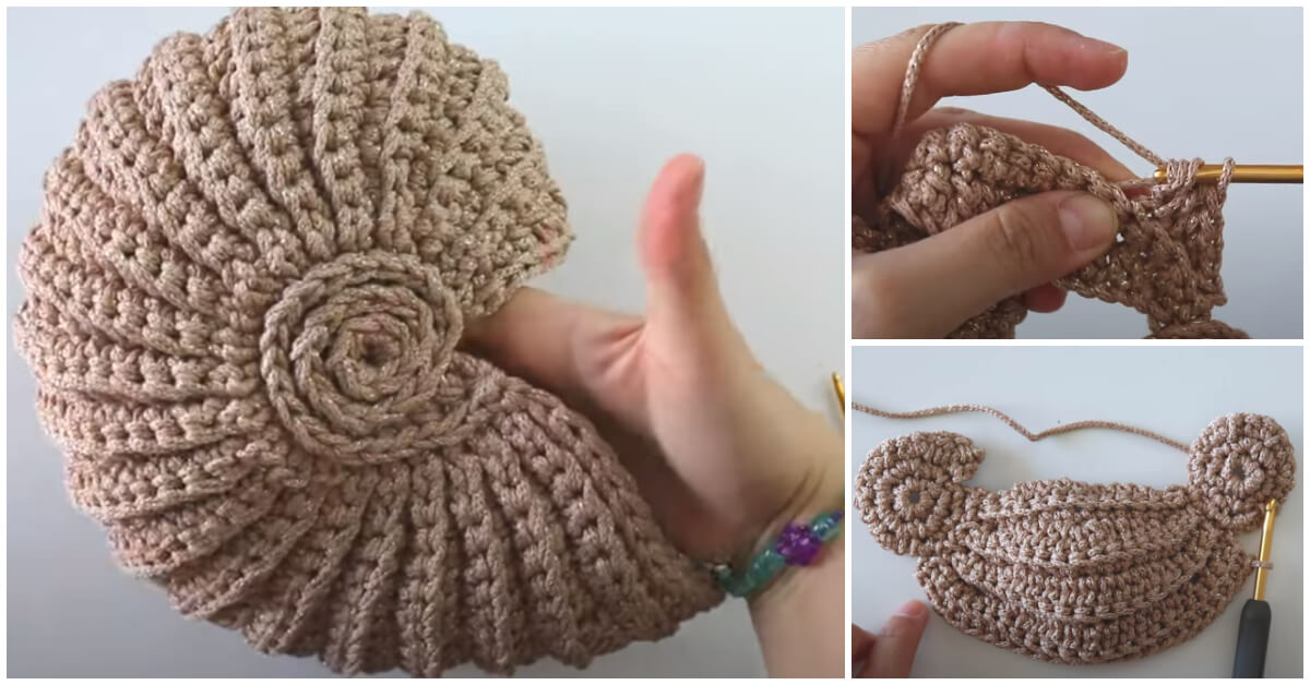Today we will make a shiny Crochet Seashell Bag. You can use it as a basket too. Yes, it is a half circle bag And I really wanted to share the tutorial with you so everyone can make your own crochet seashell bag.