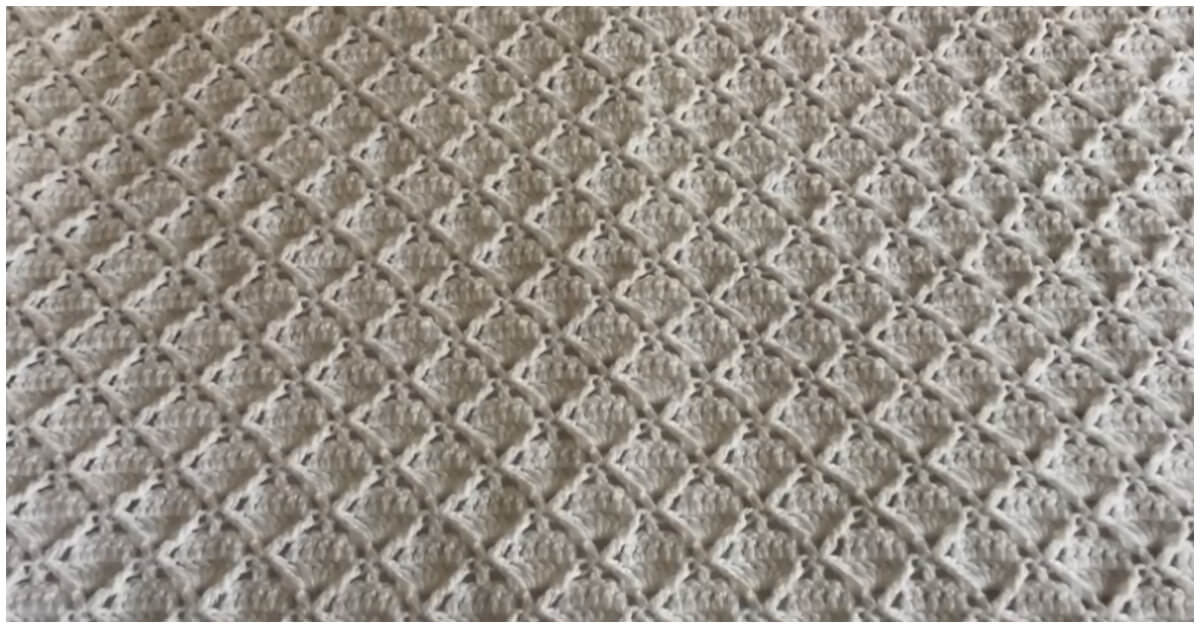 This Crochet Square Blanket is very soft your baby will get very comfortable feeling, Also this baby blanket will fill the tutorial quickly so you will enjoy your crocheting.