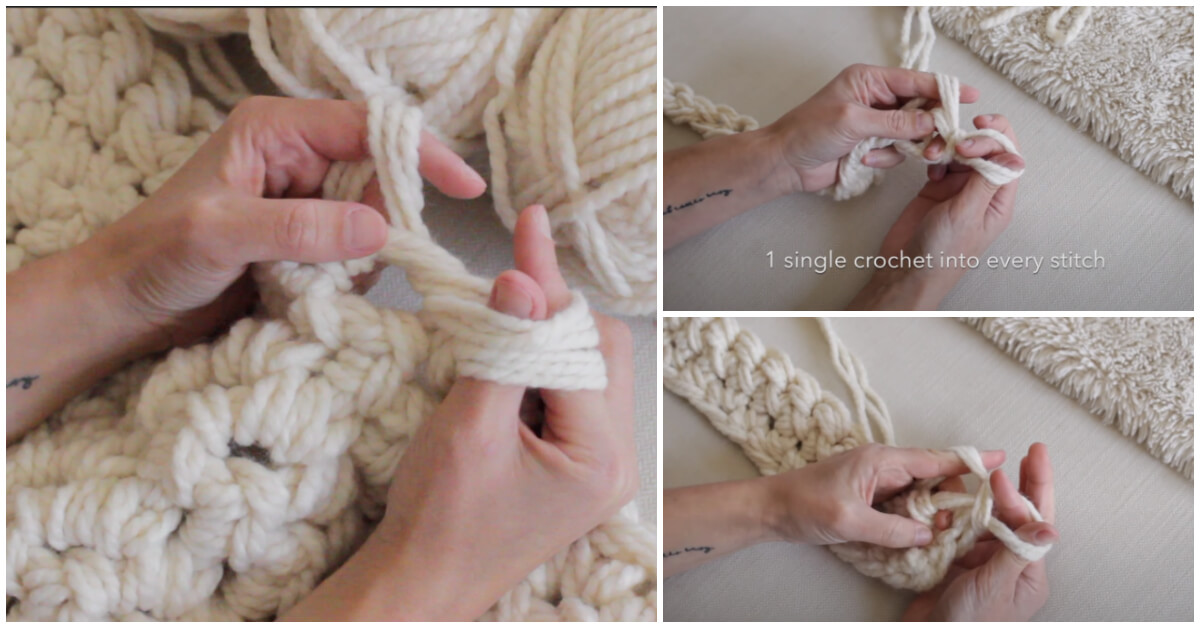 Hand crochet is easiest if you already know how to crochet the traditional way with a hook. You'll use the same method, just using your hand instead of a hook!