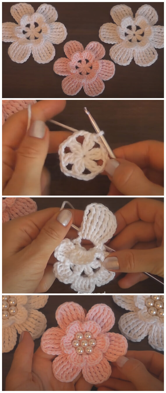 Summer is right around the corner. It's the perfect time to start crocheting a new Super Easy Crochet Flower. They brighten up a room and are fun to create.